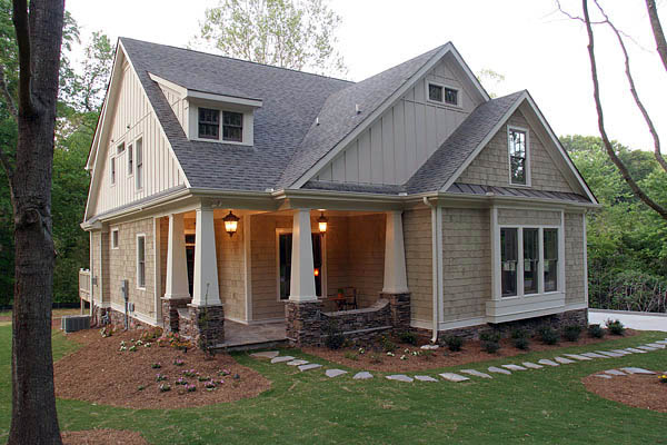 Craftsman House Plan 80227 with 4 Beds, 4 Baths, 2 Car Garage Elevation