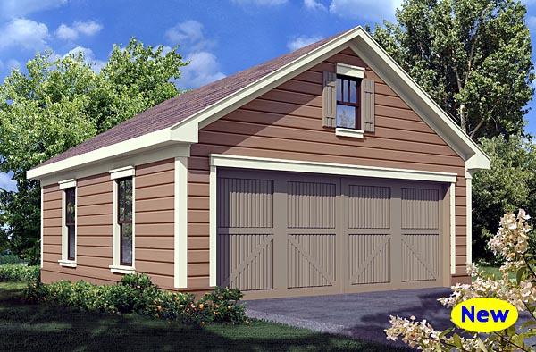 Traditional 2 Car Garage Plan 80248 Elevation