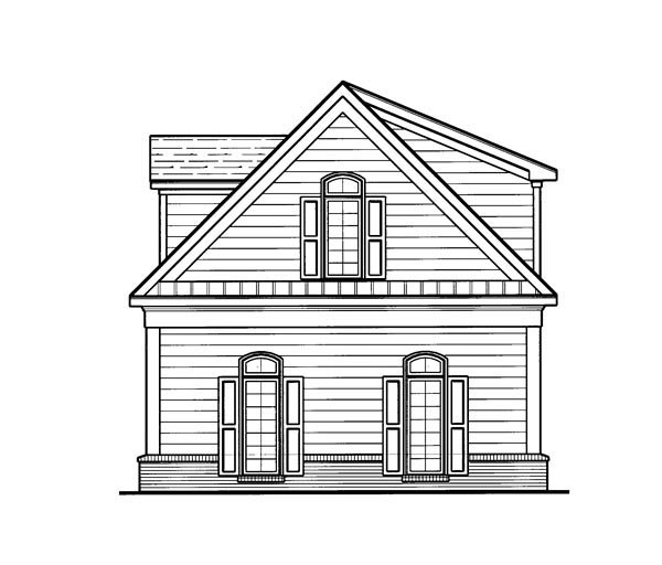 Cottage 3 Car Garage Apartment Plan 80250 with 1 Beds, 1 Baths Picture 1