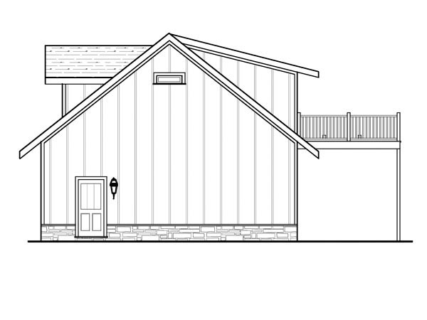 Cottage 4 Car Garage Apartment Plan 80252 with 1 Beds, 1 Baths Picture 2