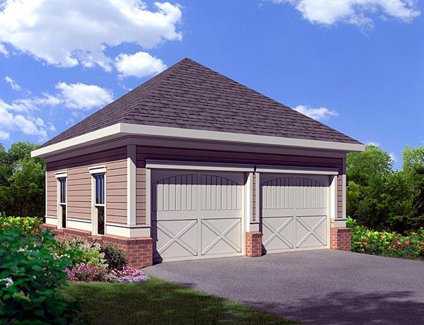 Cottage 2 Car Garage Plan 80253 Elevation