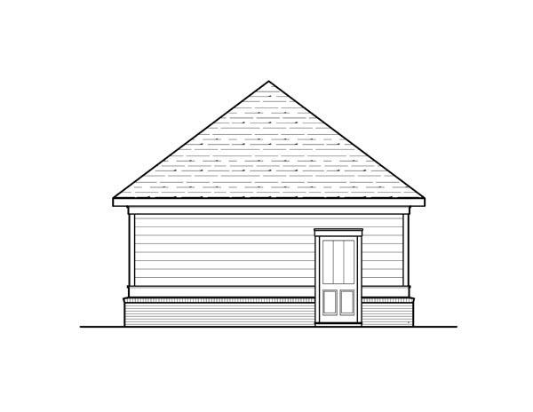 Cottage 2 Car Garage Plan 80253 Rear Elevation