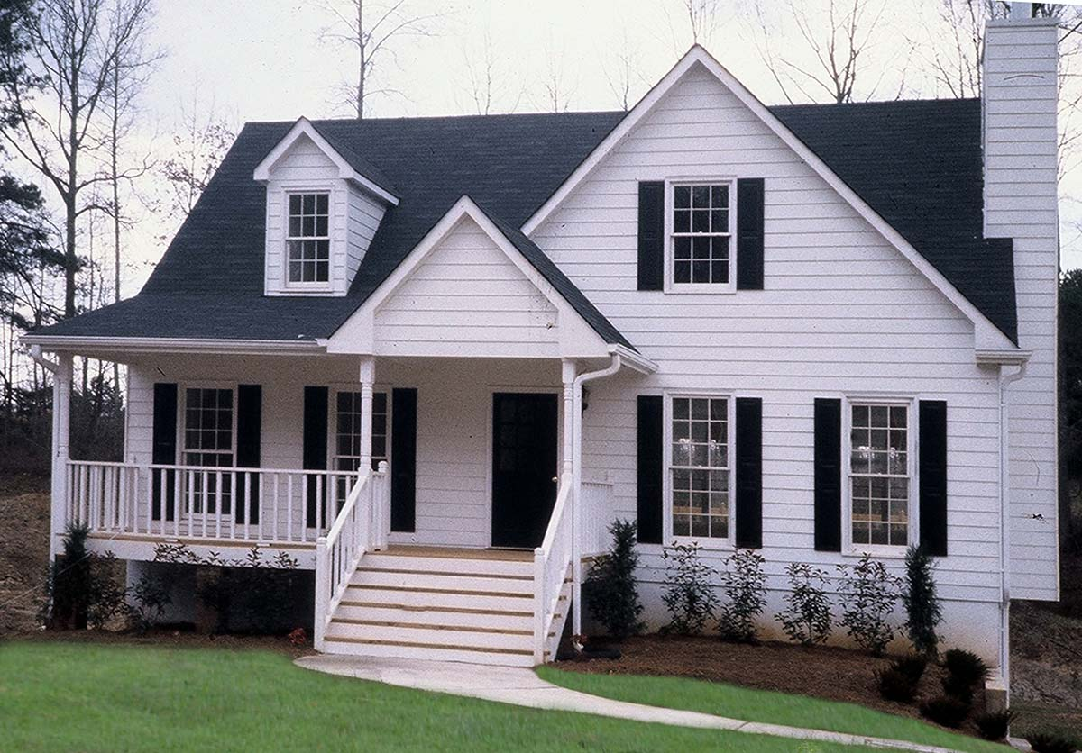 Cottage, Country, Farmhouse, Traditional House Plan 80258 with 4 Beds, 3 Baths, 3 Car Garage Picture 1