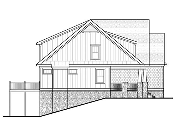 Bungalow, Cottage, Craftsman, Narrow Lot House Plan 80260 with 4 Beds, 4 Baths, 2 Car Garage Picture 2