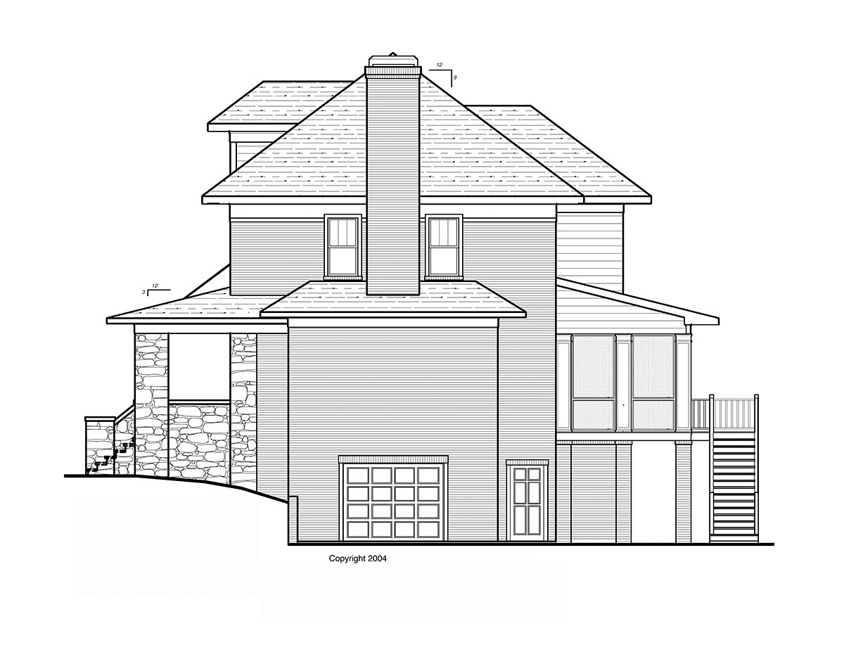 Craftsman, Traditional House Plan 80267 with 4 Beds, 4 Baths, 2 Car Garage Picture 1