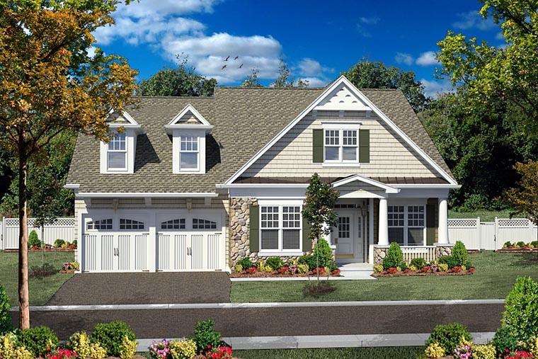 Cottage, Craftsman House Plan 80306 with 3 Beds, 3 Baths, 2 Car Garage Elevation