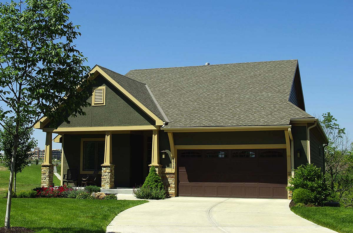 Cottage, Country, Craftsman House Plan 80404 with 3 Beds, 3 Baths, 2 Car Garage Front Elevation