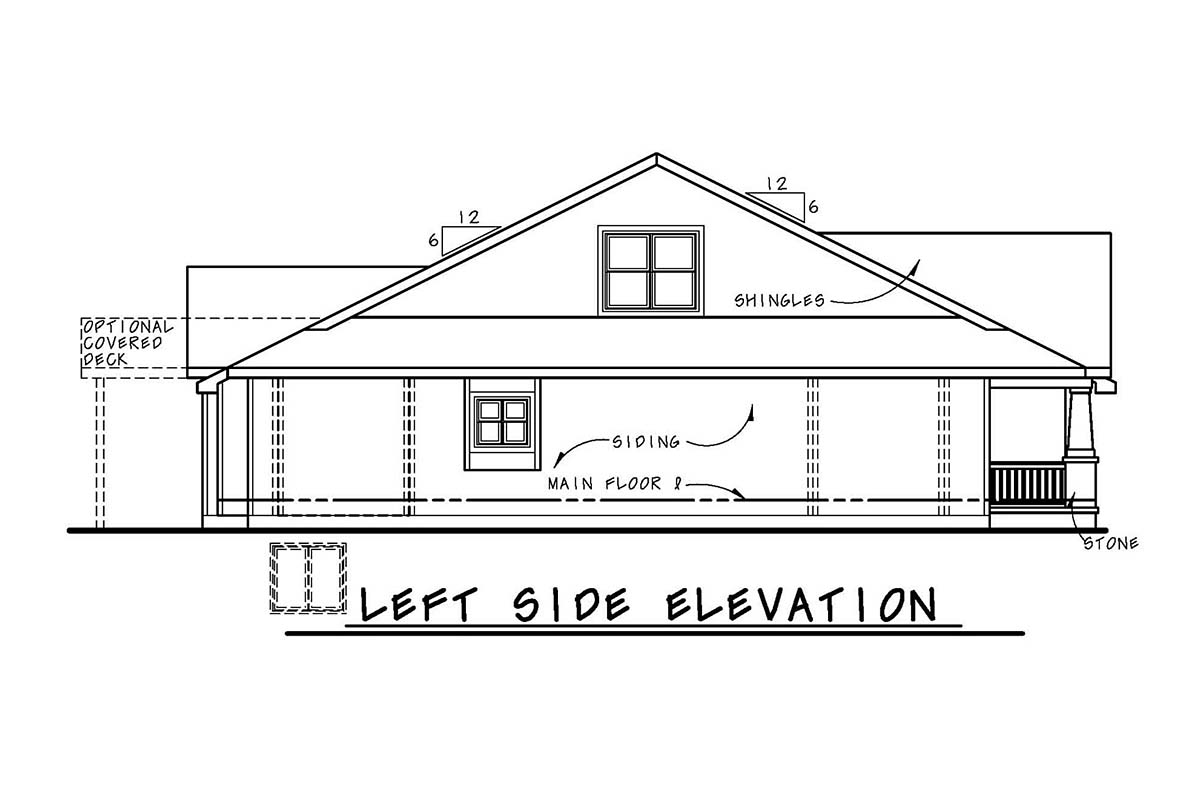 Cottage, Country, Craftsman House Plan 80404 with 3 Beds, 3 Baths, 2 Car Garage Picture 2