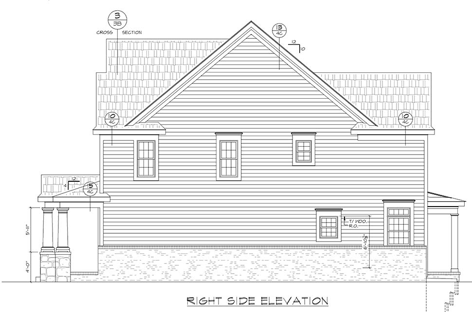 Farmhouse, Traditional House Plan 80433 with 4 Beds, 3 Baths, 2 Car Garage Picture 1