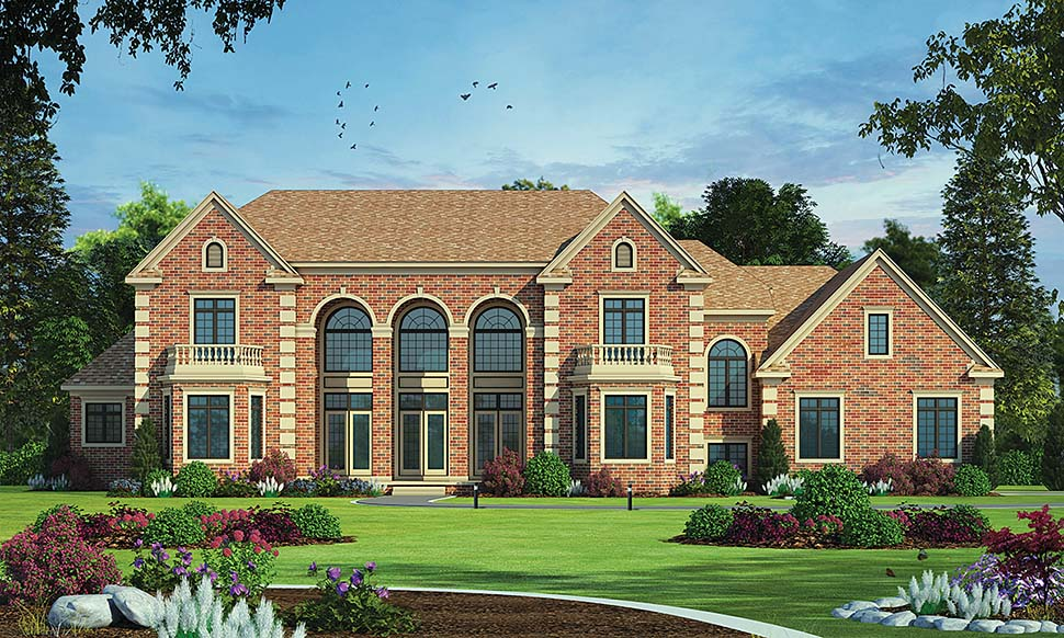 European House Plan 80453 with 5 Beds, 5 Baths, 3 Car Garage Elevation