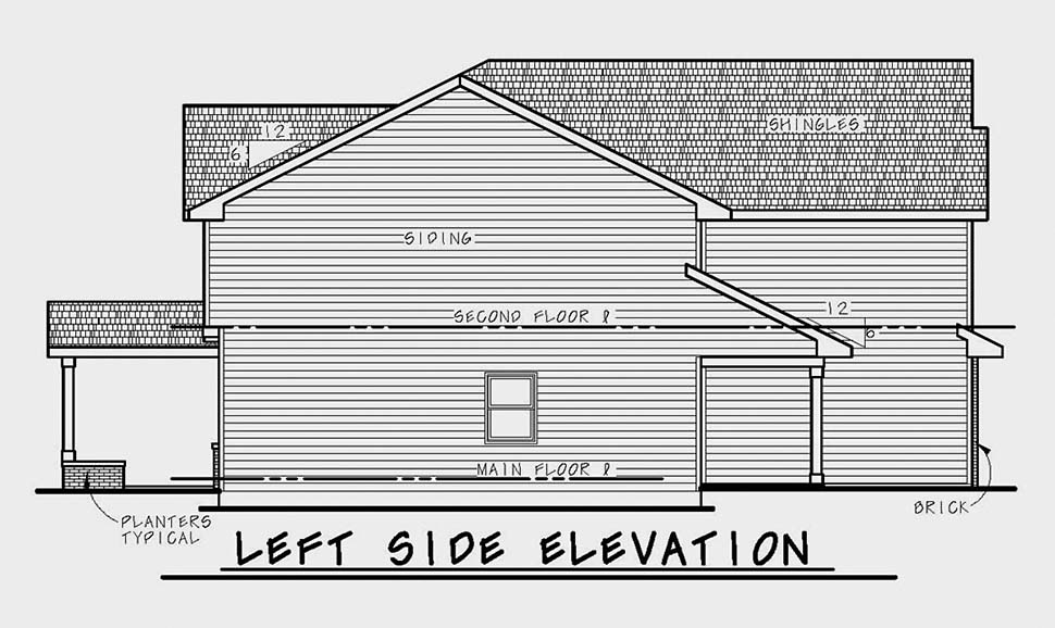Craftsman, Traditional Multi-Family Plan 80460 with 9 Beds, 9 Baths, 2 Car Garage Picture 2