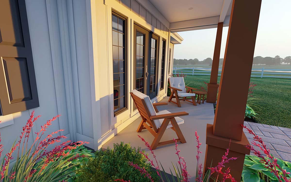 Bungalow, Cottage, Farmhouse, Ranch House Plan 80509 with 2 Beds, 2 Baths, 2 Car Garage Picture 1