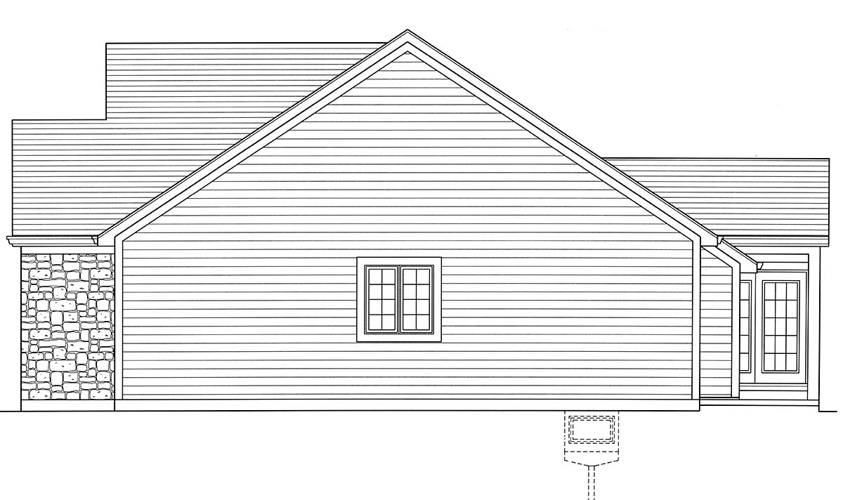 Cottage, Country, Ranch, Traditional House Plan 80606 with 3 Beds, 2 Baths, 2 Car Garage Picture 1