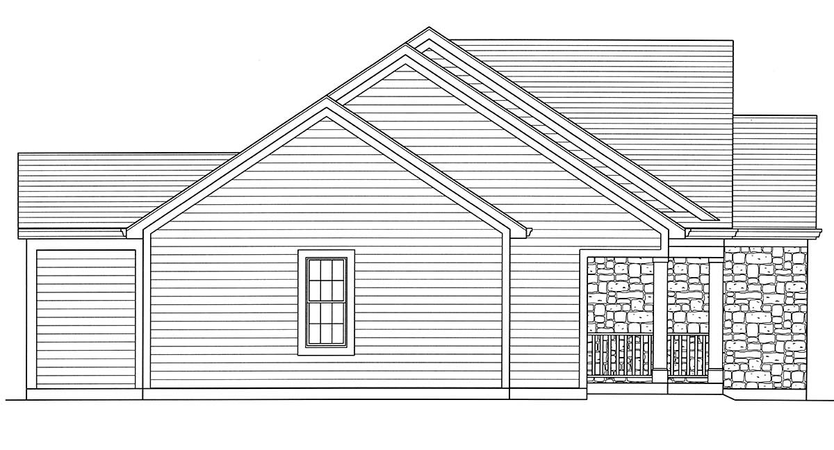 Cottage, Country, Ranch, Traditional House Plan 80606 with 3 Beds, 2 Baths, 2 Car Garage Picture 2