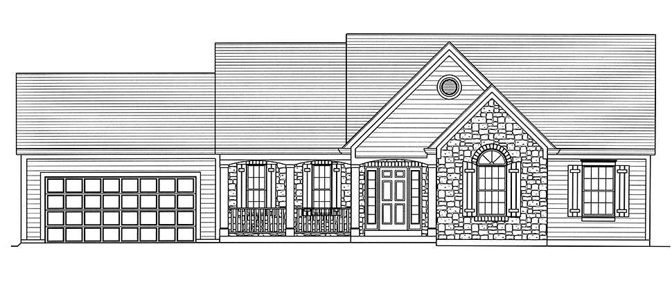 Cottage, Country, Ranch, Traditional House Plan 80606 with 3 Beds, 2 Baths, 2 Car Garage Picture 3