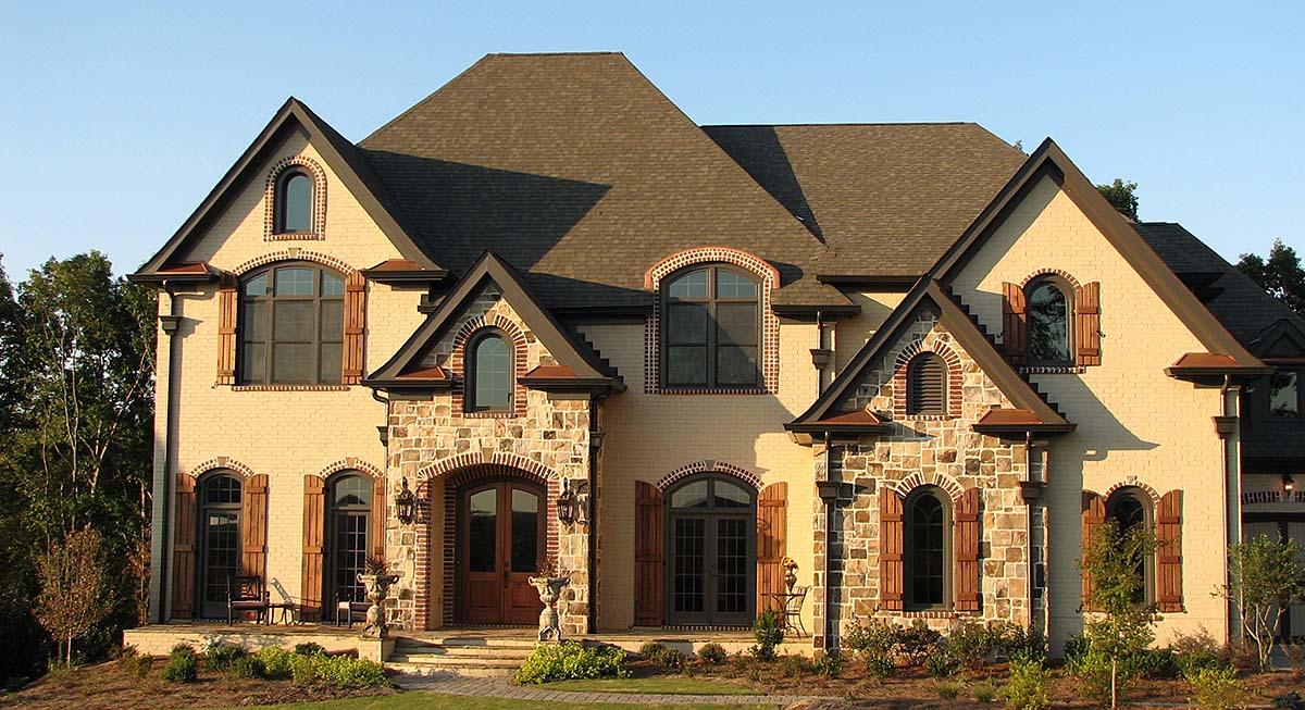 European, French Country, Traditional House Plan 80705 with 5 Beds, 6 Baths, 3 Car Garage Elevation
