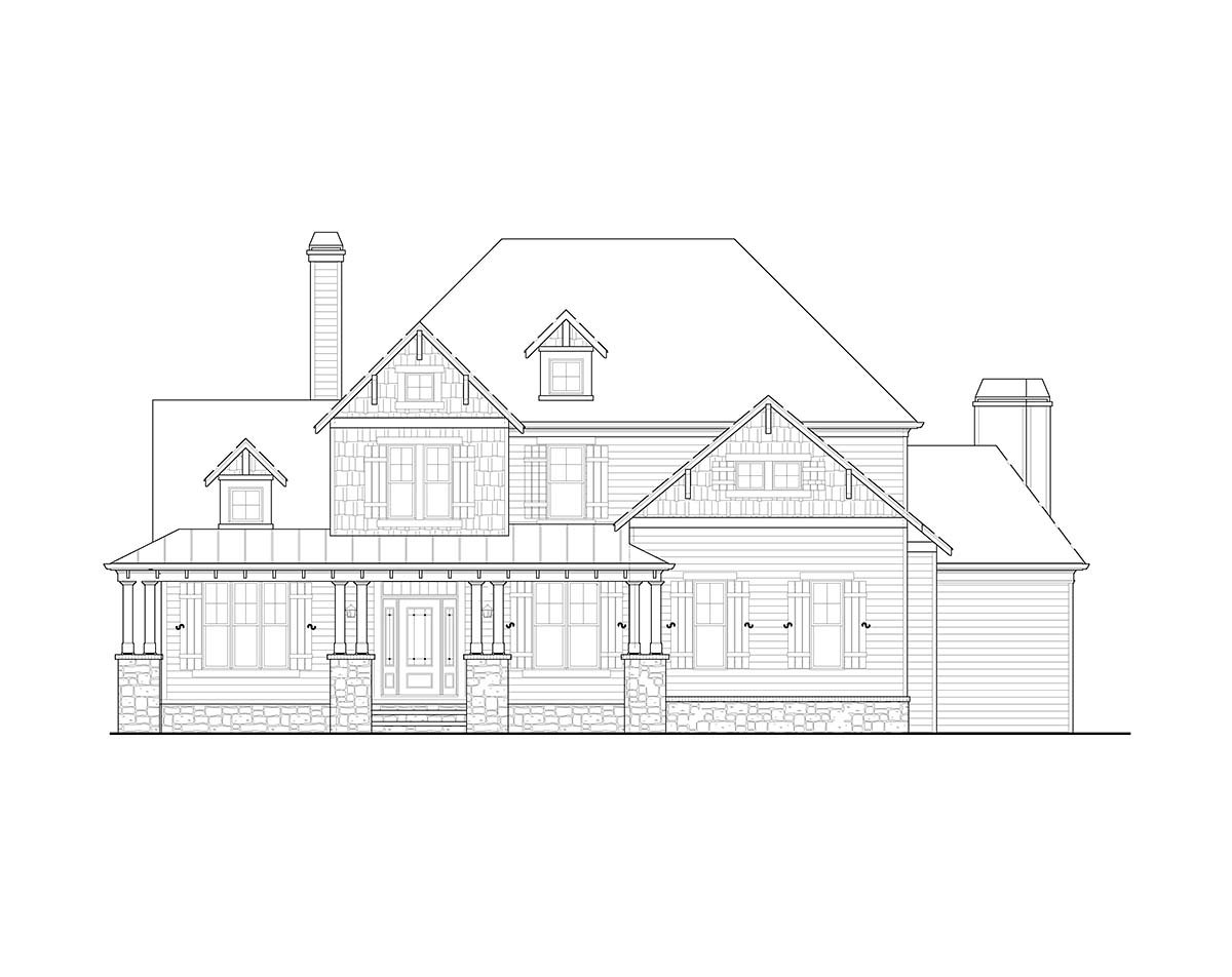 Country, Farmhouse, Southern, Traditional House Plan 80711 with 4 Beds, 3 Baths, 2 Car Garage Picture 1