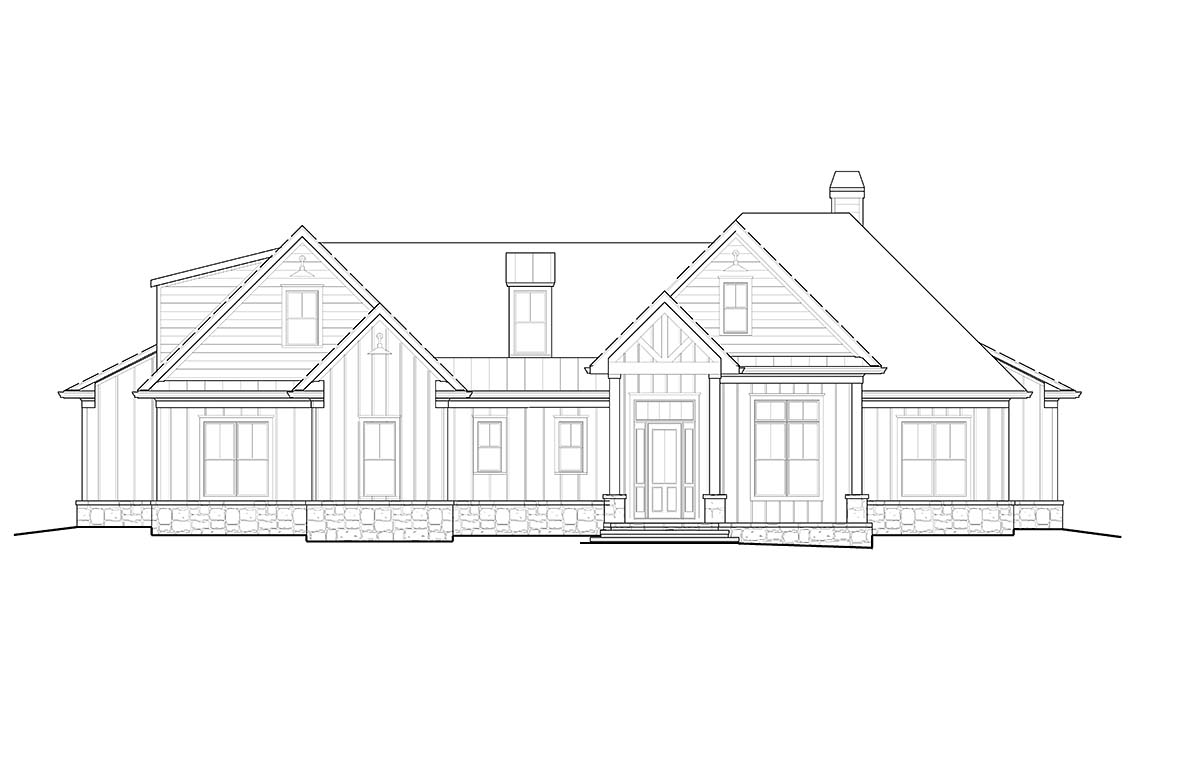 Country, Farmhouse, Southern House Plan 80716 with 6 Beds, 4 Baths, 2 Car Garage Picture 1