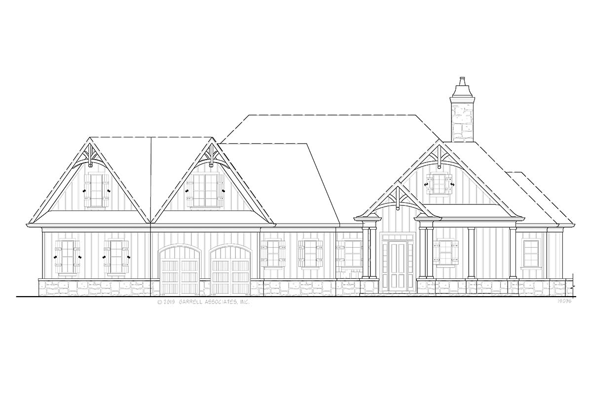 Country, Craftsman House Plan 80717 with 3 Beds, 3 Baths, 2 Car Garage Picture 1