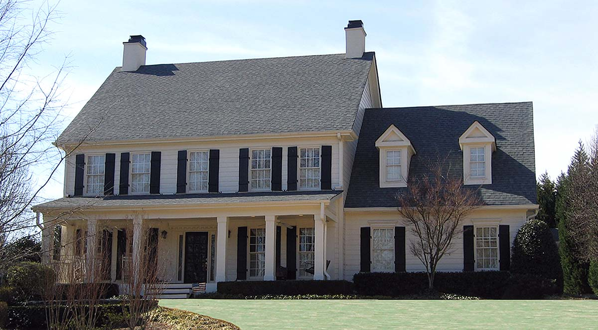 Country, Farmhouse, Southern House Plan 80718 with 4 Beds, 4 Baths, 2 Car Garage Elevation