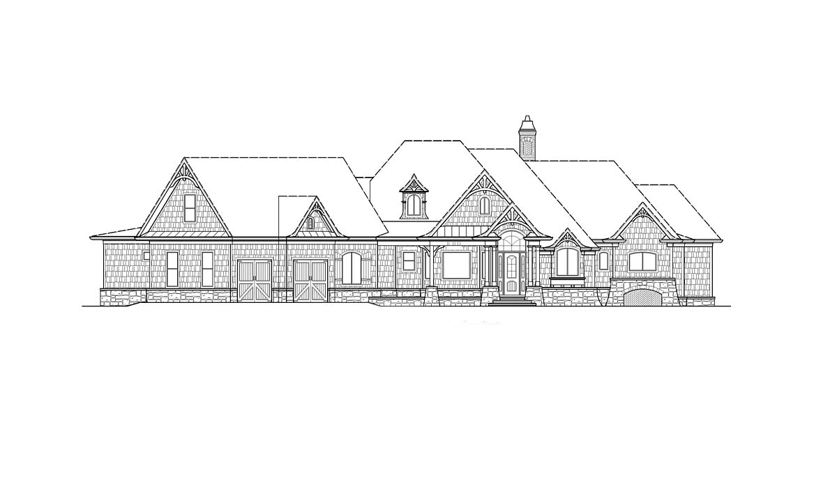 Craftsman, Ranch House Plan 80727 with 4 Beds, 5 Baths, 2 Car Garage Picture 1