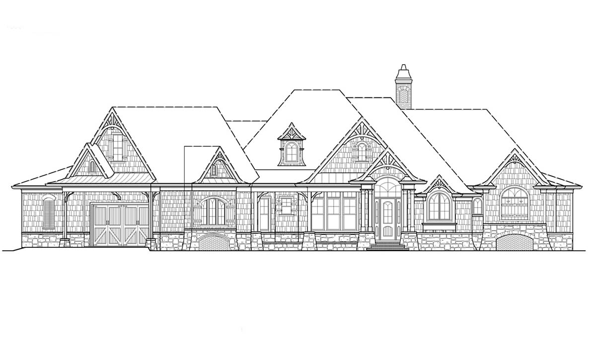 Craftsman, Ranch House Plan 80732 with 4 Beds, 4 Baths, 2 Car Garage Picture 1