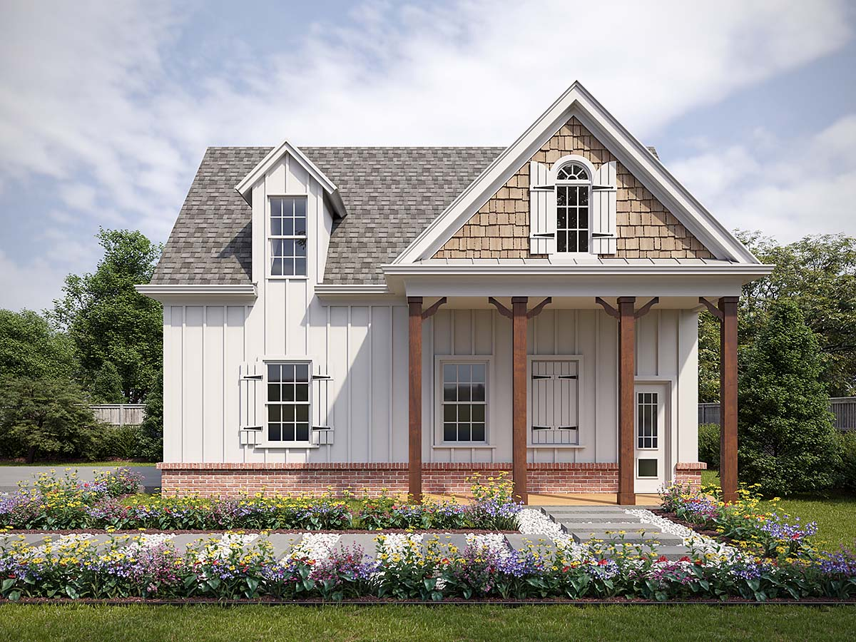Cottage, Craftsman 2 Car Garage Plan 80738 Front Elevation