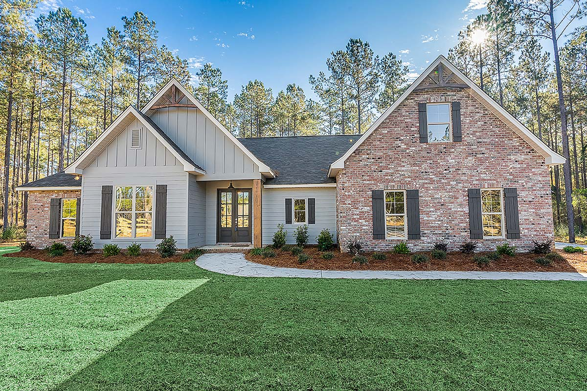 Country, Farmhouse, Traditional House Plan 80800 with 4 Beds, 2 Baths, 2 Car Garage Elevation