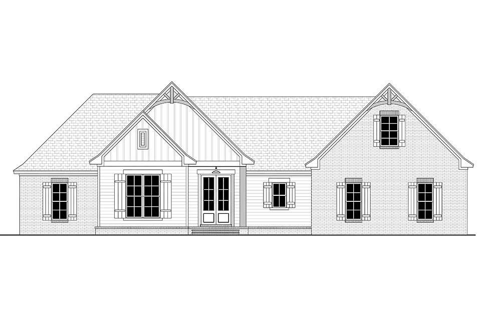 Country, Farmhouse, Traditional House Plan 80800 with 4 Beds, 2 Baths, 2 Car Garage Picture 3