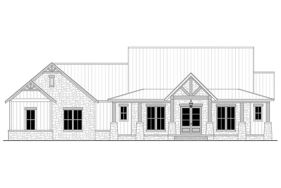 Country, Farmhouse, Traditional House Plan 80801 with 3 Beds, 3 Baths, 3 Car Garage Picture 3