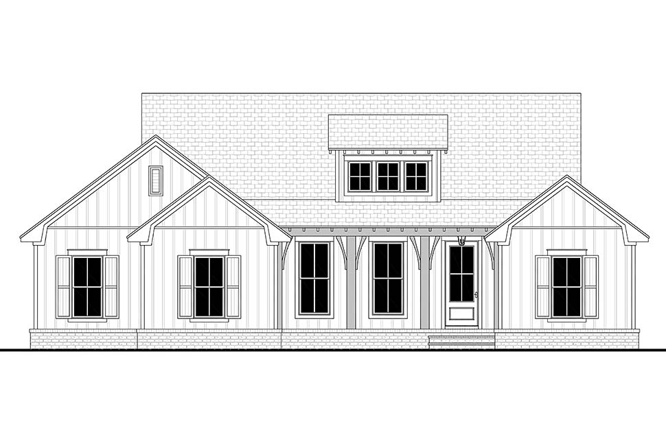 Cottage, Country, Farmhouse House Plan 80802 with 3 Beds, 2 Baths, 2 Car Garage Picture 3