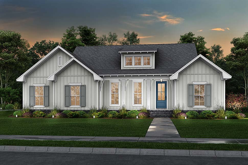 Cottage, Country, Farmhouse House Plan 80802 with 3 Beds, 2 Baths, 2 Car Garage Picture 4