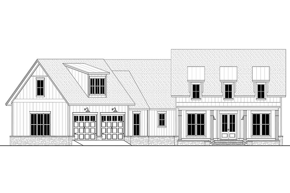 Country, Farmhouse, Traditional House Plan 80803 with 3 Beds, 3 Baths, 2 Car Garage Picture 3