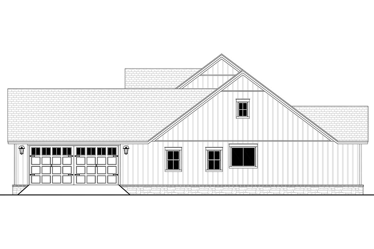 Country, Craftsman, Farmhouse, Traditional House Plan 80804 with 4 Beds, 3 Baths, 2 Car Garage Picture 1
