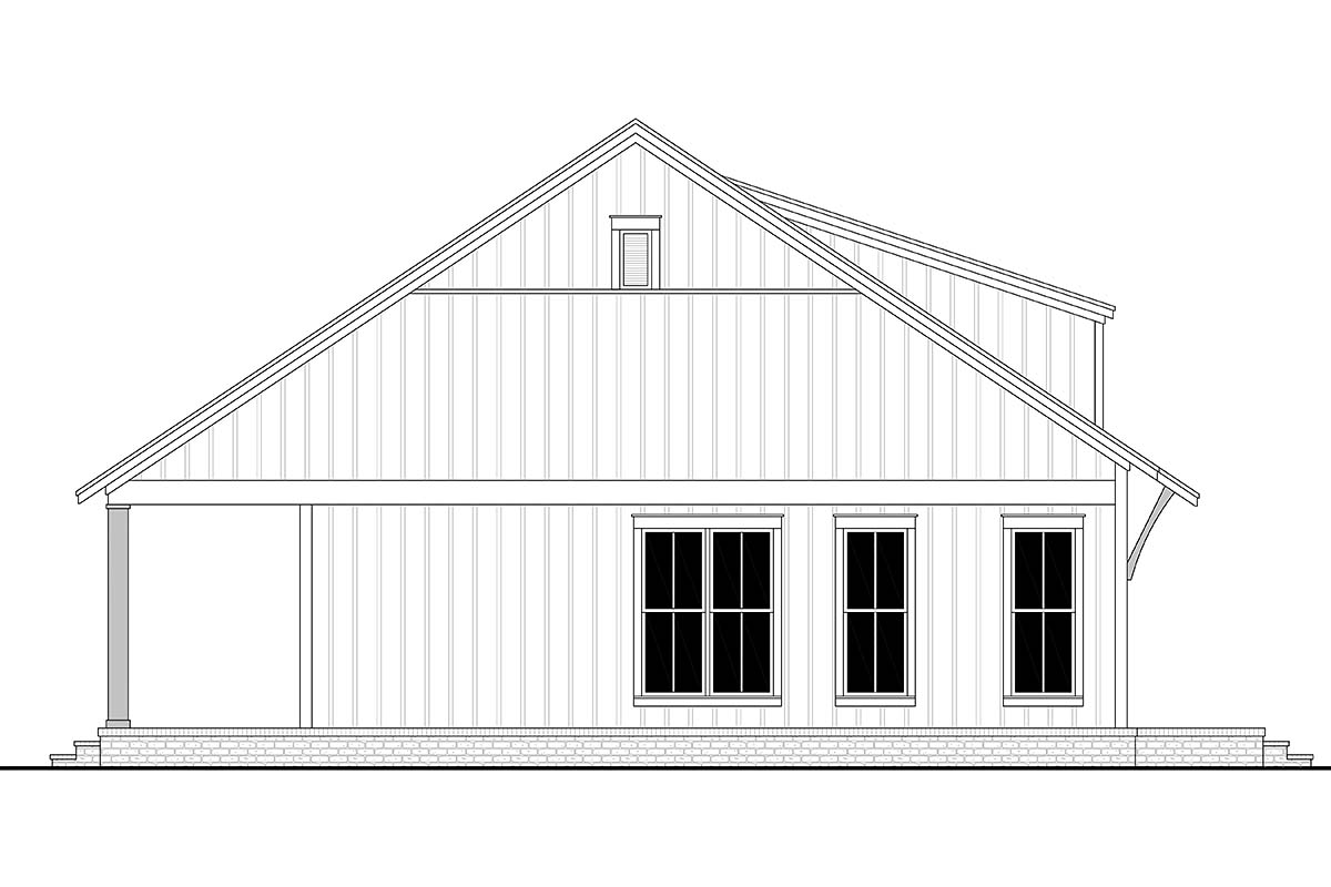 Cottage, Farmhouse, French Country, Southern House Plan 80810 with 2 Beds, 1 Baths Picture 2