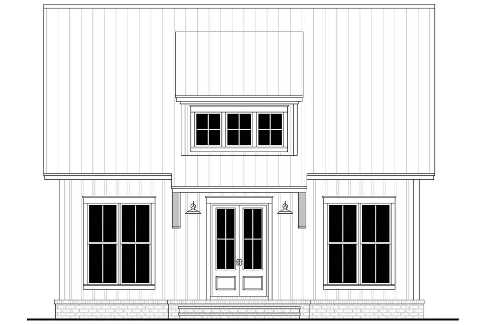 Cottage, Farmhouse, French Country, Southern House Plan 80810 with 2 Beds, 1 Baths Picture 3