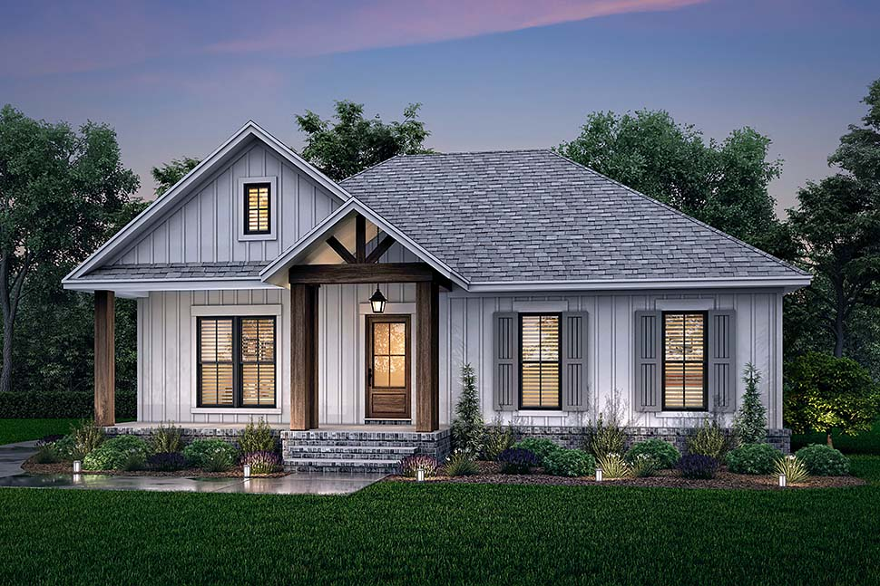 Cottage, Country, Farmhouse House Plan 80811 with 2 Beds, 2 Baths, 2 Car Garage Picture 4
