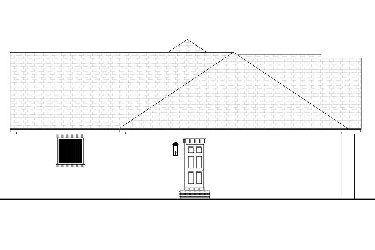 Country, Farmhouse, Traditional House Plan 80812 with 3 Beds, 2 Baths, 3 Car Garage Picture 2