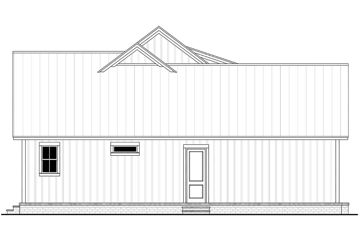 Country, Farmhouse House Plan 80813 with 3 Beds, 2 Baths, 2 Car Garage Picture 2