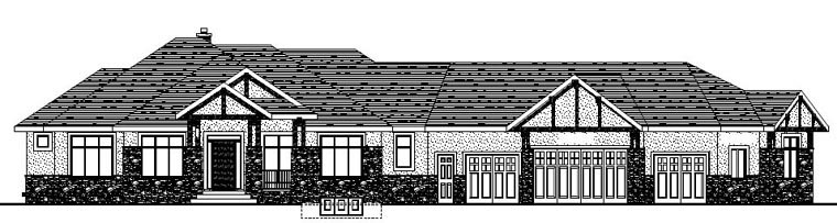 Bungalow House Plan 81104 with 5 Beds, 5 Baths, 4 Car Garage Picture 1