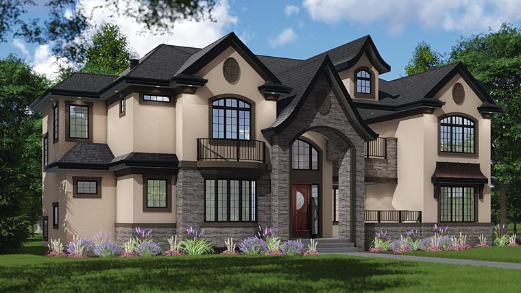 European, Tudor House Plan 81188 with 4 Beds, 6 Baths, 4 Car Garage Elevation