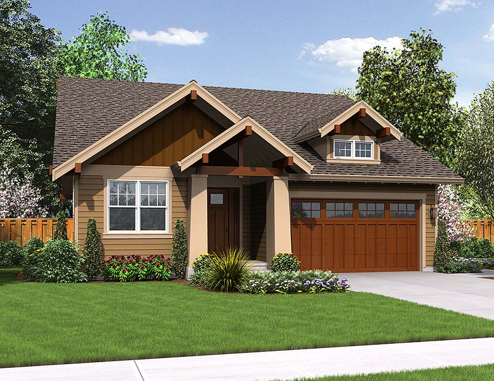 Bungalow, Cottage, Craftsman House Plan 81201 with 3 Beds, 2 Baths, 2 Car Garage Elevation
