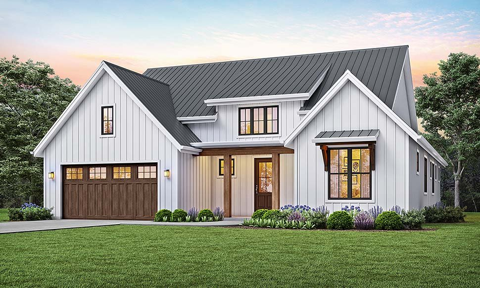 Country, Craftsman, Farmhouse House Plan 81205 with 3 Beds, 2 Baths, 2 Car Garage Elevation