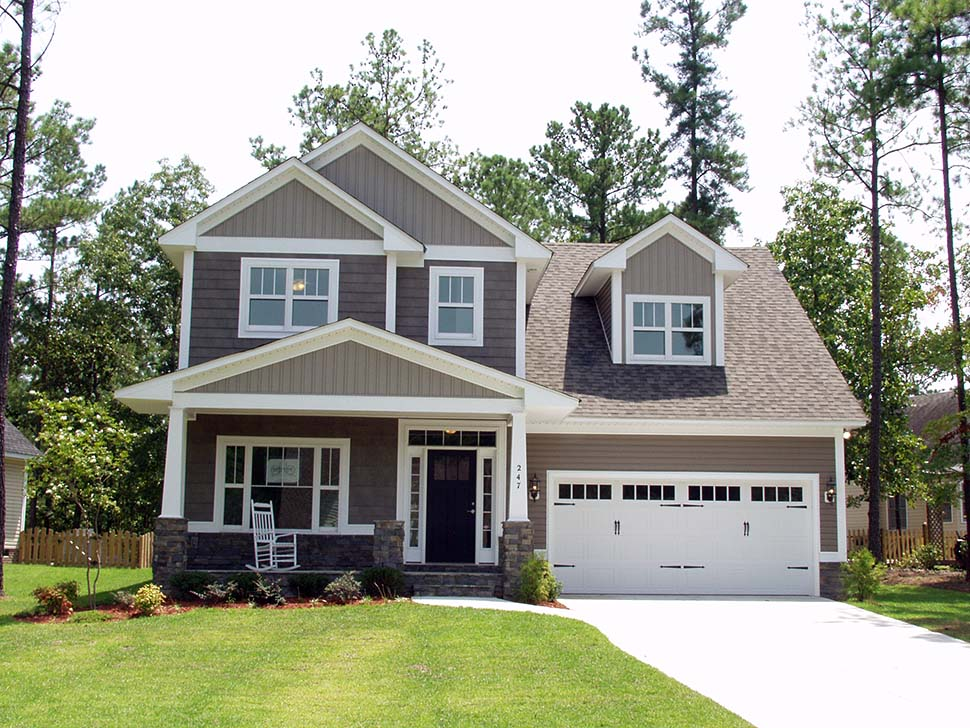 Craftsman, Traditional House Plan 81216 with 3 Beds, 3 Baths, 3 Car Garage Picture 4