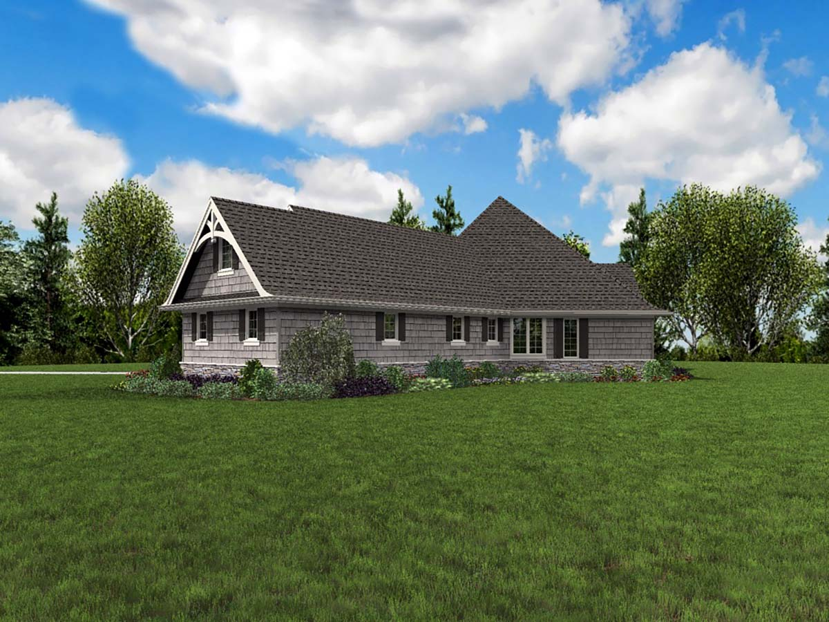 Craftsman House Plan 81218 with 3 Beds, 4 Baths, 3 Car Garage Picture 1