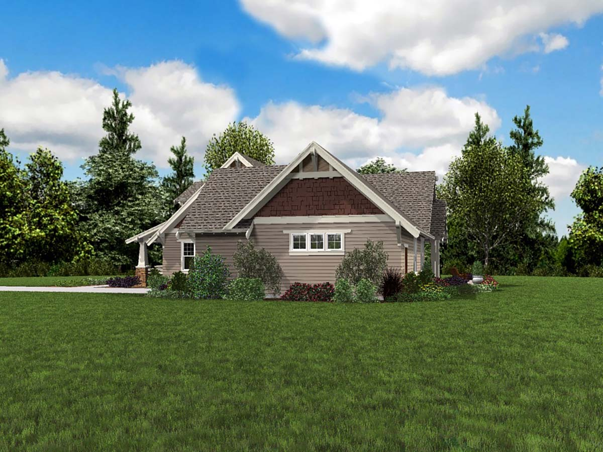 Bungalow, Craftsman, Traditional House Plan 81220 with 3 Beds, 3 Baths, 2 Car Garage Picture 1