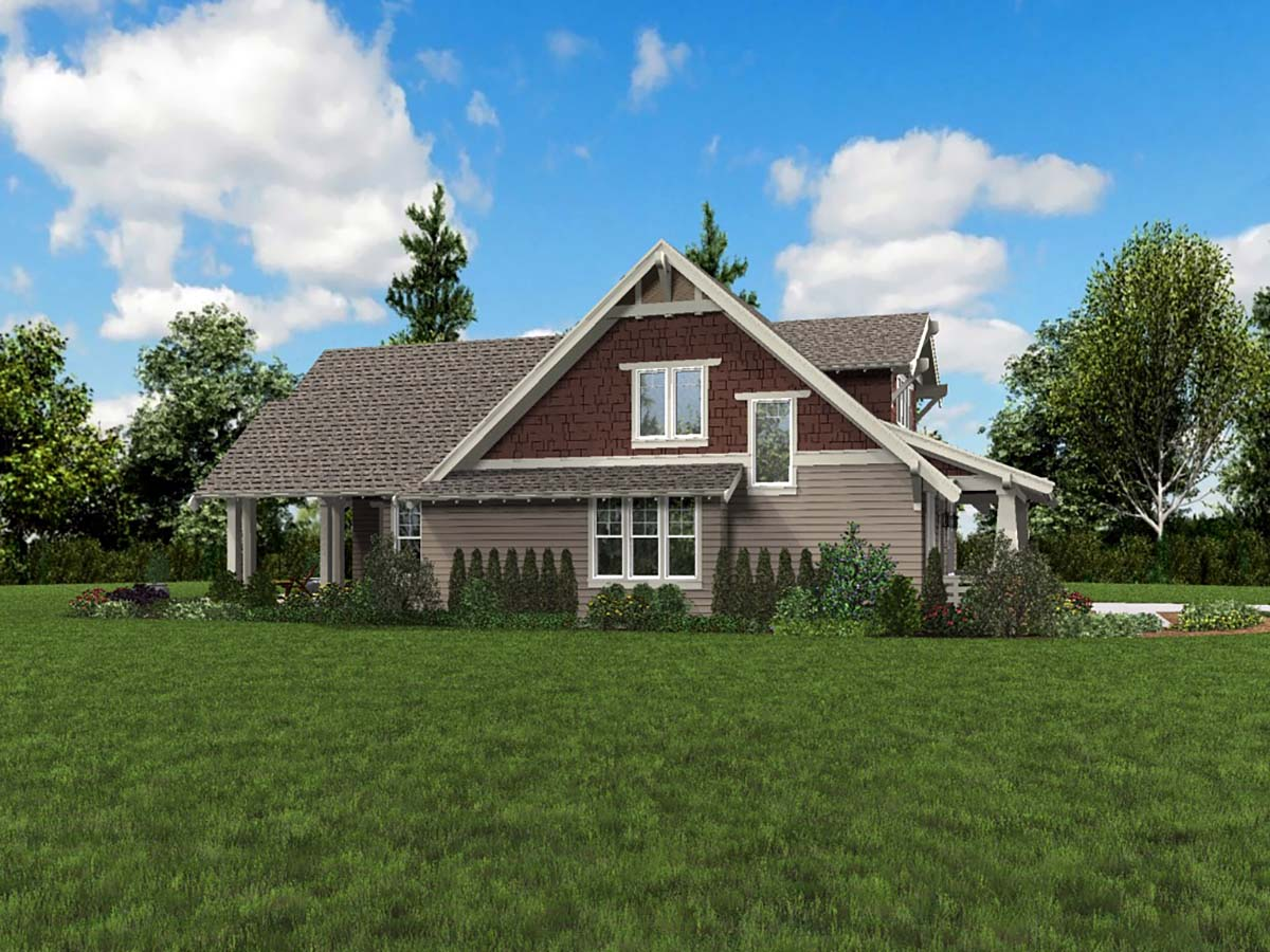 Bungalow, Craftsman, Traditional House Plan 81220 with 3 Beds, 3 Baths, 2 Car Garage Picture 2
