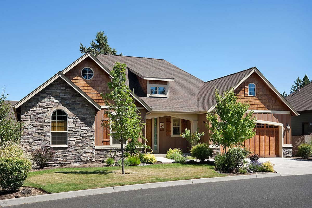 Bungalow, Craftsman House Plan 81227 with 3 Beds, 2 Baths, 3 Car Garage Front Elevation