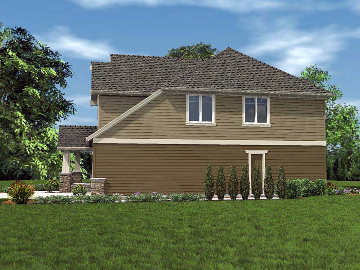 Cottage, Craftsman House Plan 81228 with 4 Beds, 3 Baths, 2 Car Garage Picture 1