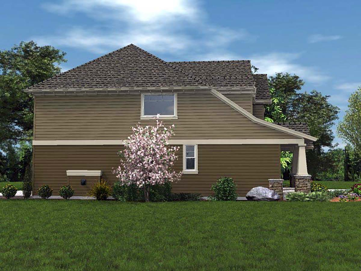 Cottage, Craftsman House Plan 81228 with 4 Beds, 3 Baths, 2 Car Garage Picture 2